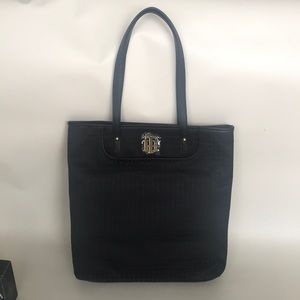 Tommy hilfiger black tote with ghost logo print